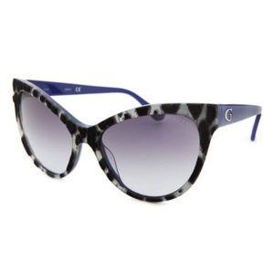 Guess GU7430 92B Cat Eye Ivory & Black Sunglasses